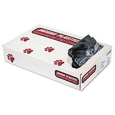 Jaguar Plastics - Low-Density Can Liners, 45gal, .7mil, Black -  100/Carton