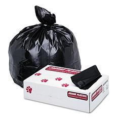 Jaguar Plastics - Low-Density Commercial Can Liner, 60gal, 1.7mil, 38 x 58, Black -  100/Carton