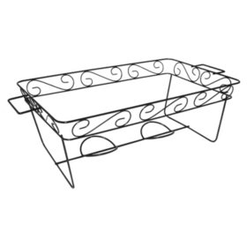 Decorative Wire Chafing Rack, Black (12 pack)