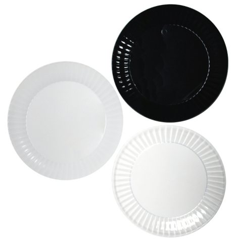 """Party Essentials Deluxe Plastic Plates, 7.5"""", Select Color (288 ct.)"""