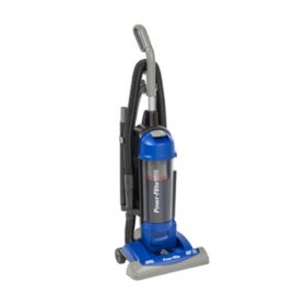 "Powr-Flite 15"" Commercial Upright Bagless Vacuum with HEPA & On-Board Tools"