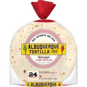 Albuquerque Tortilla Homestyle Flour Tortillas (54oz)