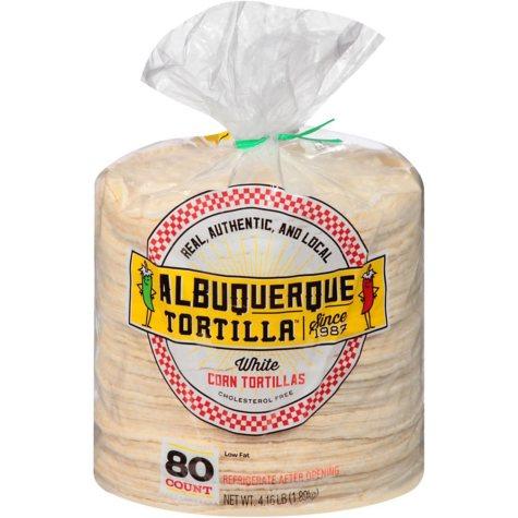Albuquerque Tortilla Company White Corn Tortillas (80 ct.)