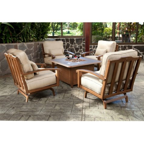 Americana Chat Group with Firepit - 5 pc.