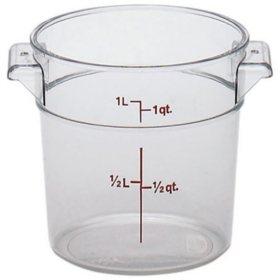 Cambro Round Food Container, Clear (Choose Your Size)