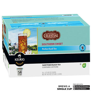 Celestial Seasonings Southern Sweet Perfect Iced Tea K-Cup Packs (54 ct.)