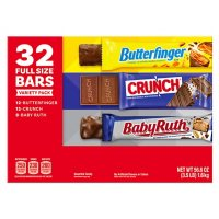 Crunch, Butterfinger and BabyRuth Chocolate Bar Variety Pack (32 ct.)