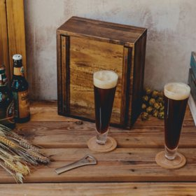 Acacia Box Pilsner Beer Gift Set for Two