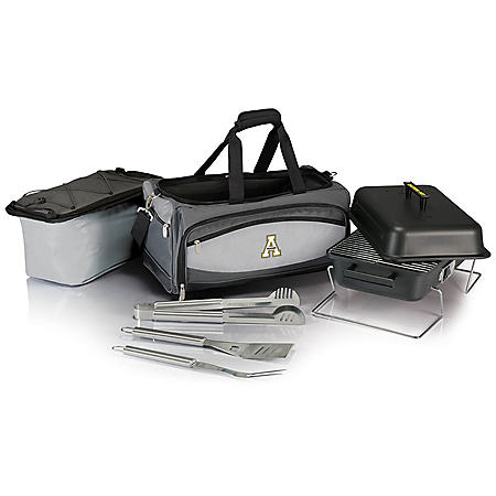 Collegiate Buccaneer Portable Charcoal BBQ & Cooler Tote (Various Teams)