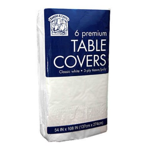Tablecovers -  6 pk. - 54 x 108