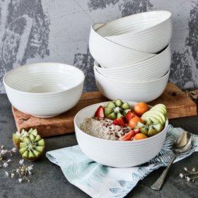 6-Piece Farmhouse Bowls Set (Assorted Colors)
