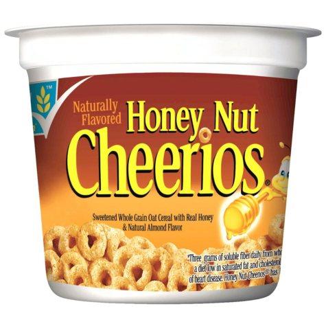 General Mills Honey Nut Cheerios Cereal (2 oz. cups, 12 ct.)