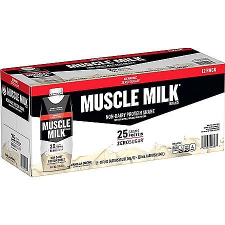 Muscle Milk Genuine Non-Dairy Protein Shake, Vanilla Crème (11 fl. oz., 12 pk.)