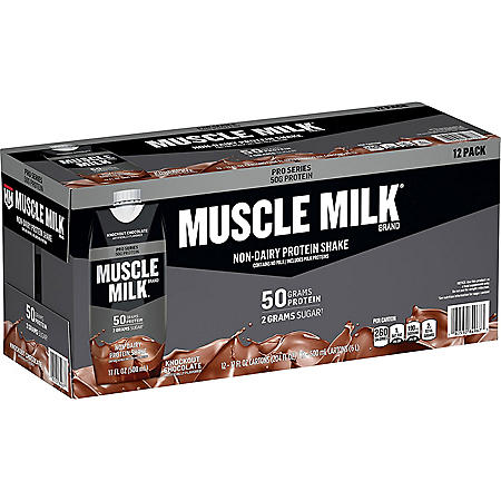 Muscle Milk Pro Series Non-Dairy Protein Shake, Knockout Chocolate, (17 fl. oz., 12 pk.)