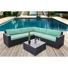 Bloomington 6 Pc. Modular Sectional Seating Set with Premium Sunbrella Fabric