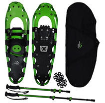 Mountain Tracks Pro Series 32 inch snowshoe set - Green