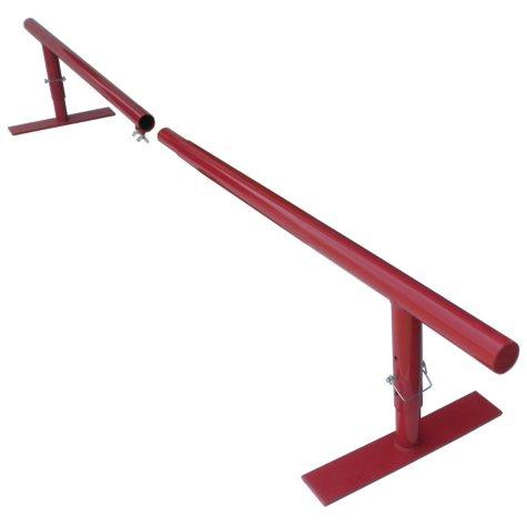 Skate & BMX Split Round Skate/Grind Rail, Red