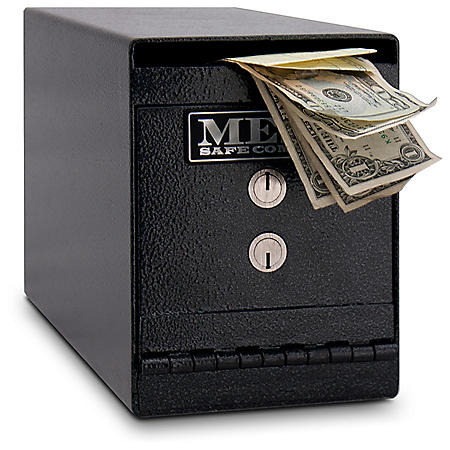 Mesa Safe All Steel Undercounter Depository Safe, 0.2 Cubic Feet