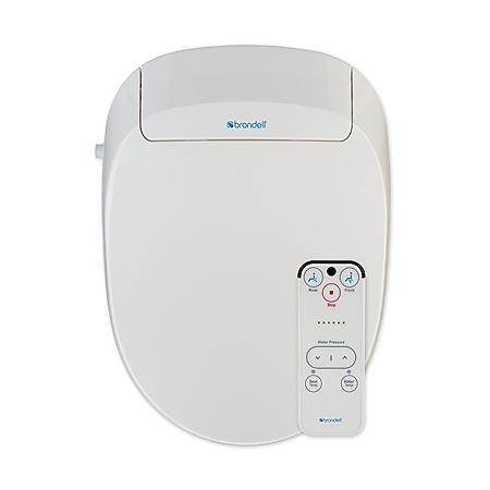 Brondell Advanced Bidet Toilet Seat with Bonus Filter-Round (White)