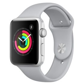 Apple Watch Series 3 GPS - Silver Aluminum Case with Fog Sport Band (Choose Size)