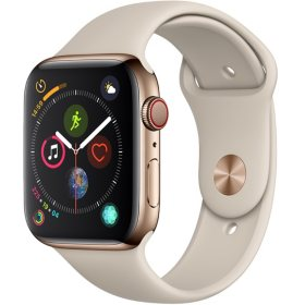 7d9df33f1a62f Apple Watch Series 4 GPS + Cellular 44MM Gold Stainless Steel Case with  Stone Sport Band