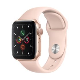 Apple Watch Series 5 GPS Gold with Pink Band (Choose Size)