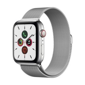 Apple Watch Series 5 44MM GPS + Cell Stainless Silver with Milanese Band