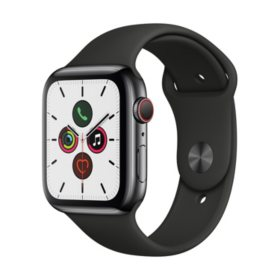 Apple Watch Series 5 44MM GPS + Cell Stainless Black with Black Band
