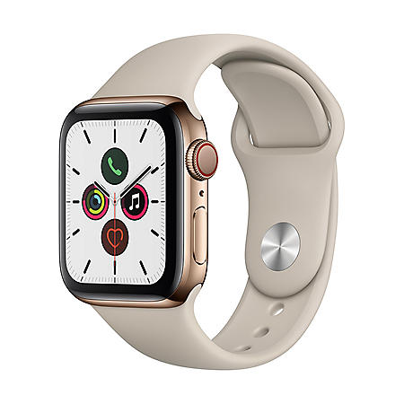 Apple Watch Series 5 44MM GPS + Cell (Stainless Gold with Stone Band)