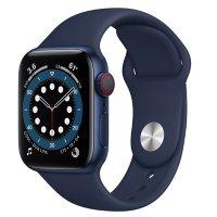 Apple Watch Series 6 40m GPS + Cellular, Blue Aluminum Case with Deep Navy Sport Band