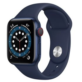 Apple Watch Series 6 40m GPS + Cellular, Blue Aluminum Case with Deep Navy Sport Band