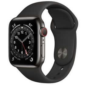 Apple Watch Series 6 Stainless Steel Case with Sport Band 40mm GPS + Cellular (Choose Color) (Choose Color)