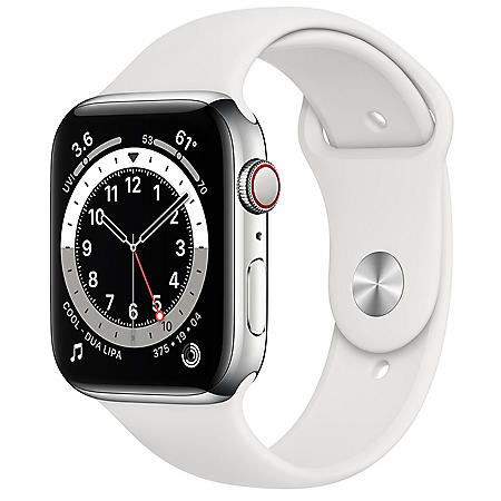 Apple Watch Series 6 Stainless Steel Case with Sport Band 44mm GPS + Cellular (Choose Color)