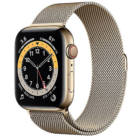 Apple Watch Series 6 Stainless Steel Case with Milanese Loop 44mm GPS + Cellular (Choose Color)