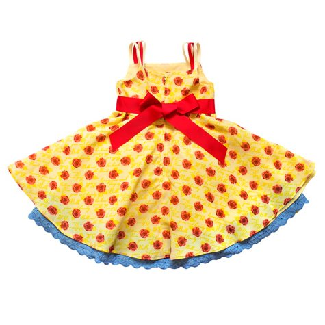 """Disney by Tutu Couture """"Beauty and the Beast"""" Belle Chiffon Romantic Dress"""