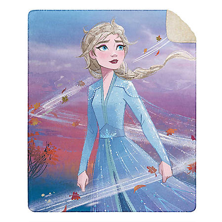 """Frozen Cloud Throw Blanket with Sherpa Back, 50"""" x 60"""" (Various Designs)"""