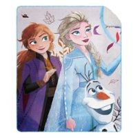 "Disney's Frozen 2 ""Mesmerized"" Cloud Throw Blanket with Sherpa Back, 50"" x 60"""