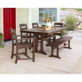 Classics 6-Piece Dining Set by Ivy Terrace  (Various Colors)