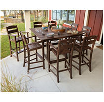 Bar Set 9 pc Brown