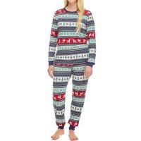 Ladies Fair Isle Holiday FamJams Pajamas