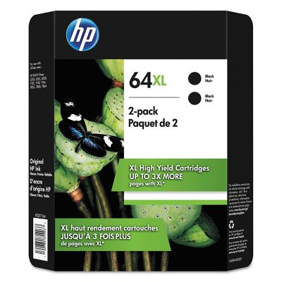 for the ENVY 6252 6258 WAREHOUSE STORE PACK 2-PACK HP GENUINE 64XL Black Ink