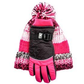 ZeroXposur Girls' Hat and Glove Set