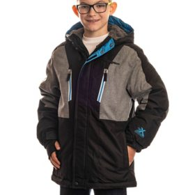 ZeroXposur Boy's Black/Grey Puffer Jacket