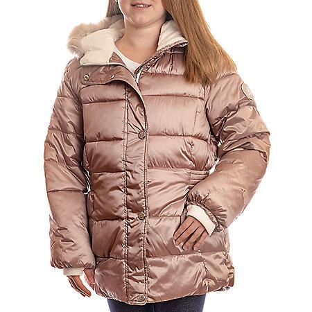 ZeroXposur Girl's Champagne Pink Puffer Jacket