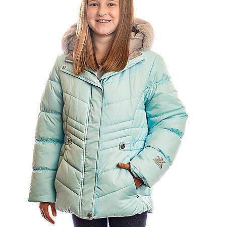 ZeroXposur Girl's Aqua Puffer Jacket