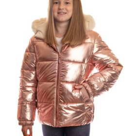 ZeroXposur Girl's Copper Wrinkle Puffer Jacket