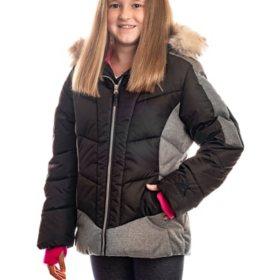 ZeroXposur Girl's Black/Pink Puffer Jacket
