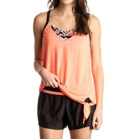 ZeroXposur Ladies 2-in-1 Tankini & Swim Short