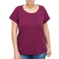 Plus Size Short Sleeve Insert French Terry Top