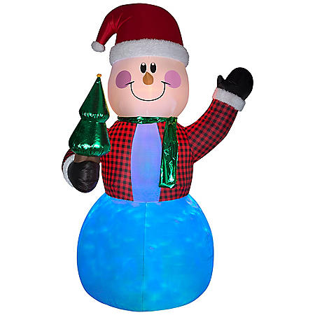 Airblown Inflatable Projection Lightshow Snowman